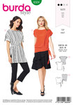 Burda 6324. Side tie top.