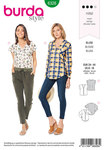 Burda 6326. Shirt with v neck.
