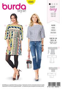 Burda 6345. Loose blouses and shirt-blouses.