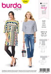 Burda 6345. Loose blouses and shirt-blouses.