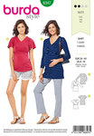 Burda 6347. Maternity top.
