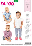 Burda 9318. Baby top with bow tie.