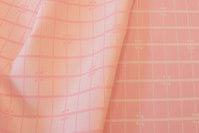 Soft red tablecloth-fabric with checks in big width.