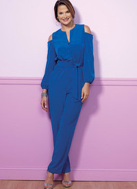 Butterick 6462. Cold-Shoulder Top, Tunic, Dress and Jumpsuit.