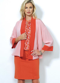 Butterick pattern: Banded Jacket, Notch-Neck Top and Pencil Skirts