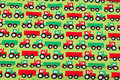 Light green cotton-jersey with tractors