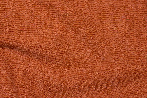 Rust-colored, soft knit