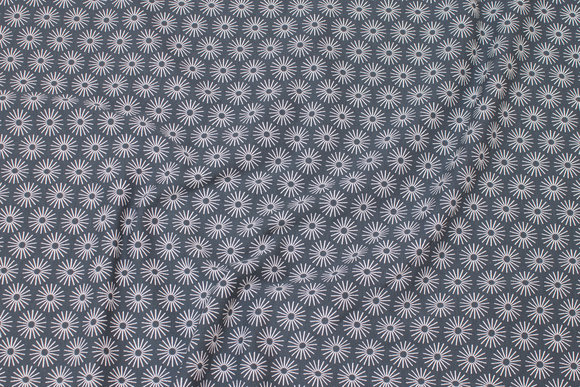 Petrol cotton-jersey with light snow particles