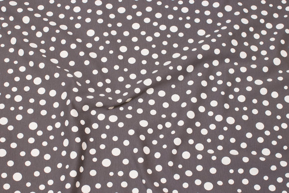 Light grey cotton-jersey with off-white dots