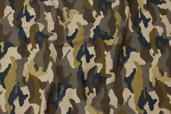 Camouflage cotton-jersey