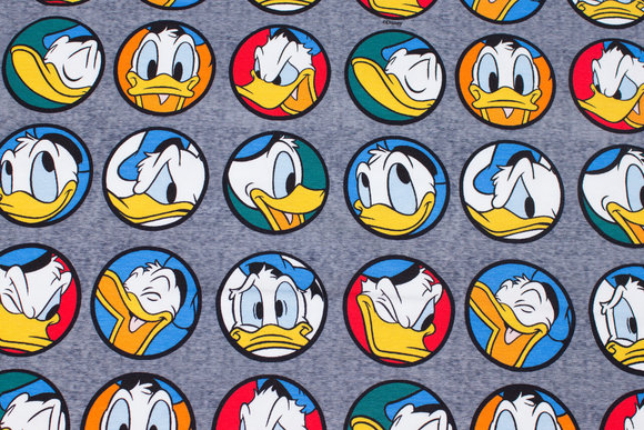 Blue-grey cotton-jersey with Donald Duck motifs