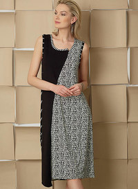 Vogue pattern: Pullover Dresses with Asymmetrical Front, and Sleeve Variations, Marcy Tilton