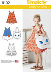 Child´s Easy-to-Sew Sundress and Kitty Tote