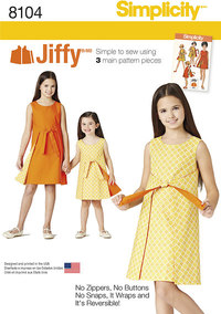 Child´s and Girls´ Jiffy® Reversible Wrap Dress