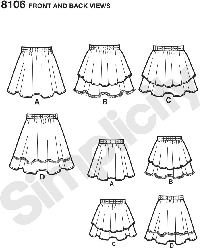 Get your tween into sewing with this skirt pattern that includes special directions to learn to sew for the first time. Skirt features different overlays and trims for a wardrobe staple they will be proud to wear.