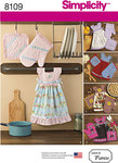 Simplicity 8109. Towel Dresses, Pot Holders and Oven Mitts.