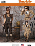 Simplicity 8114. Misses Steampunk Costumes.