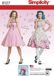 Simplicity 8127. 7 Misses´ Lolita and Rockabilly Dresses.