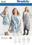 Simplicity 8141. 1 Plus Size Knit Tunics and Mini Dress.