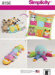 6 Stuffed Animals with Pillow House and Stuffed toys