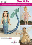 8 Fantasy Costumes for 18 inches Dolls