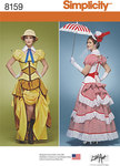 Simplicity 8159. 9 Misses Cosplay Costumes with Corsets.