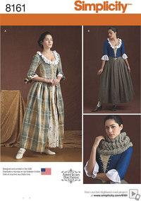 Simplicity 8161. Misses´ 18th Century Costumes.