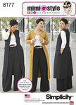 Simplicity 8177. Mimi G Style Trouser, Coat or Vest, and Knit Top.