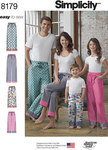 Simplicity 8179. 9 Child, Teen and Adult Lounge Pant.