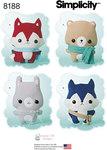 Misses´ Stuffed Fox, Wolf, Bear and Bunny