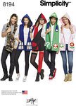 Misses´, Men´s and Teens´ Hooded Scarves with Appliques