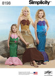 Simplicity 8198. Child´s, Girls´ and Misses´ Mermaid Costumes.