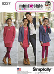 Simplicity 8227. 7 Girls and Girls Plus Jacket Dress and Knit Leggings from Mimi G Style.