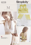 Simplicity 8228. 8 Misses´ Soft Cup Bras and Panties.
