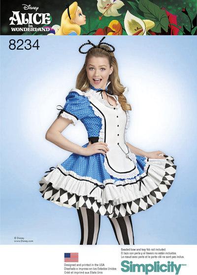 4 Misses´ Alice in Wonderland Cosplay Costume