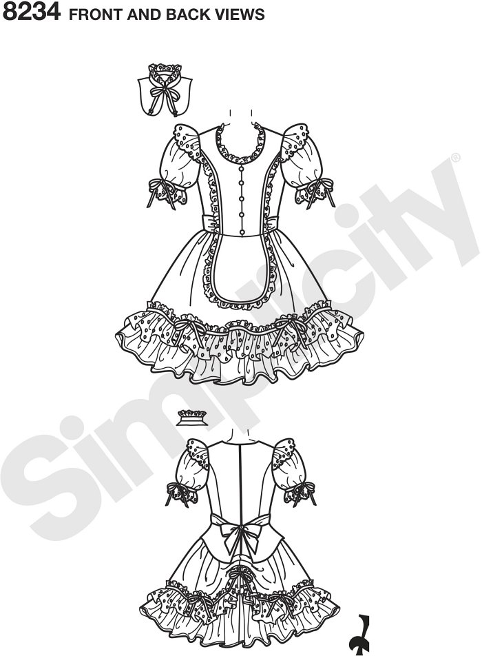 Join Alice on a wild adventure in this Alice in Wonderland inspired cosplay dress for miss. Pattern also includes neckband. Disney for Simplcity sewing patterns.