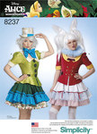 7 Misses´ Alice in Wonderland Cosplay Costumes
