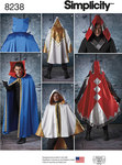 Simplicity 8238. 8 Misses´, Men´s and Teen´s Cape Costumes.