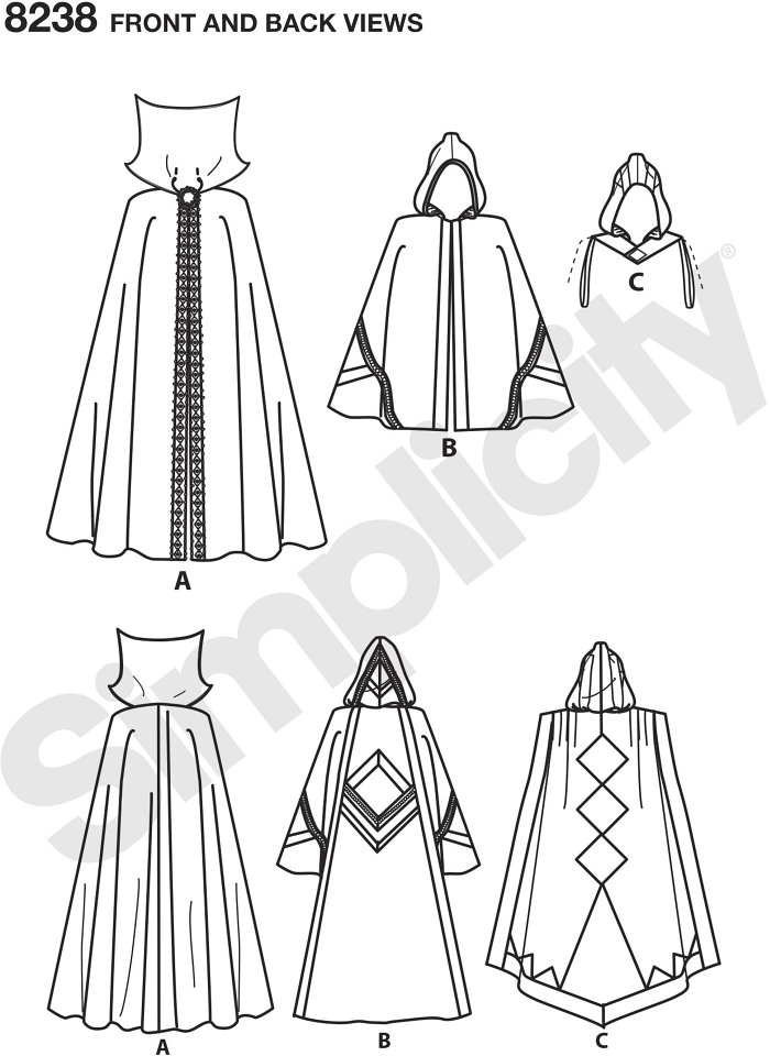 These easy to wear costume capes for miss, men and teens feature your favorite super hero and gaming characters - perfect for your next comic convention! Shirley Botsford for Simplicity.