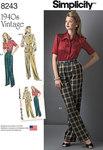3 Misses´ Vintage 1940´s Sportswear Pattern