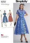 2 Misses 1950s Dress and Redingote