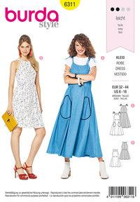 Bare shoulder dress. Burda 6311.