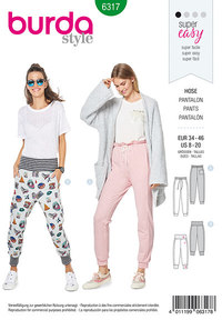Jogging pull on pant. Burda 6317.