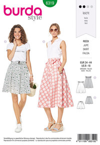 Bell shaped skirt. Burda 6319.