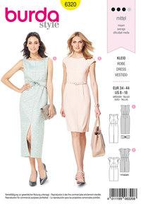 Sheath dress. Burda 6320.