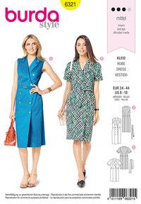 Dress with lapels. Burda 6321.