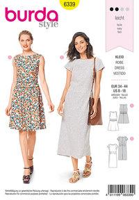 Dress with waistband . Burda 6339.