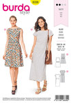 Burda 6339. Dress with waistband .
