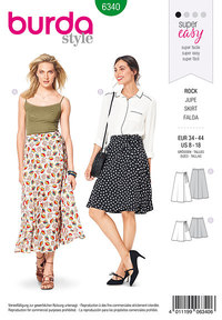 Wrap skirt. Burda 6340.