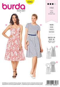 Pinafore dress. Burda 6343.